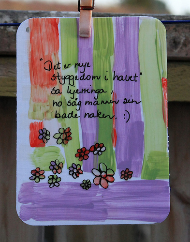 Card nr. 24- using paint and trancparency.