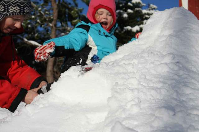 The ski-jumper is still fun like it was when grandpa was a boy.