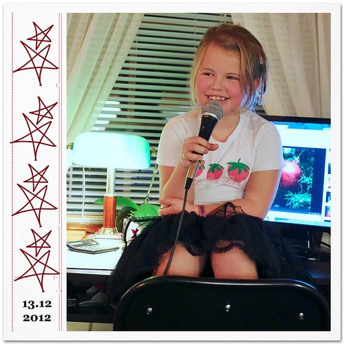 practicing Christmas carols