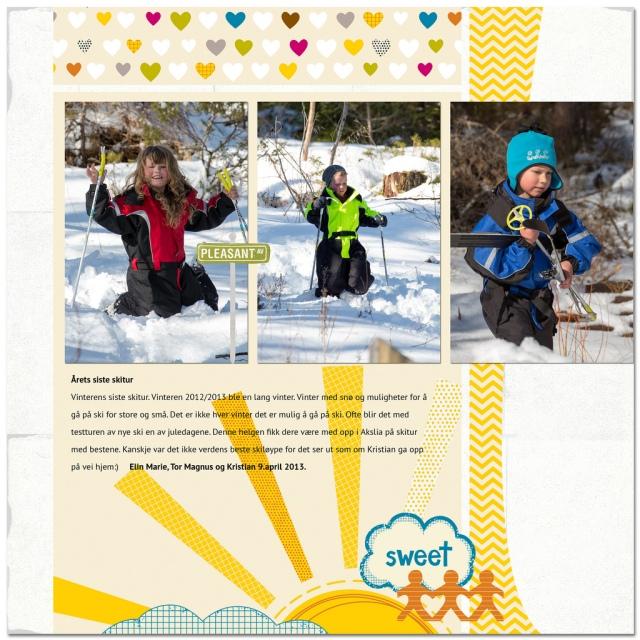 Be aware- kids on ski