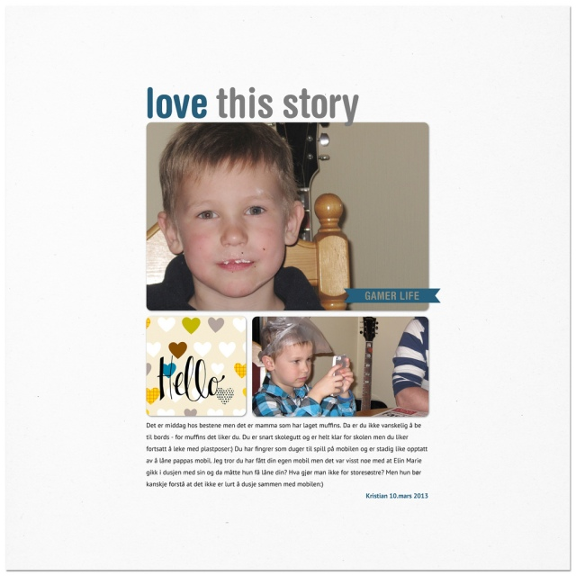 Love this story - Kristian